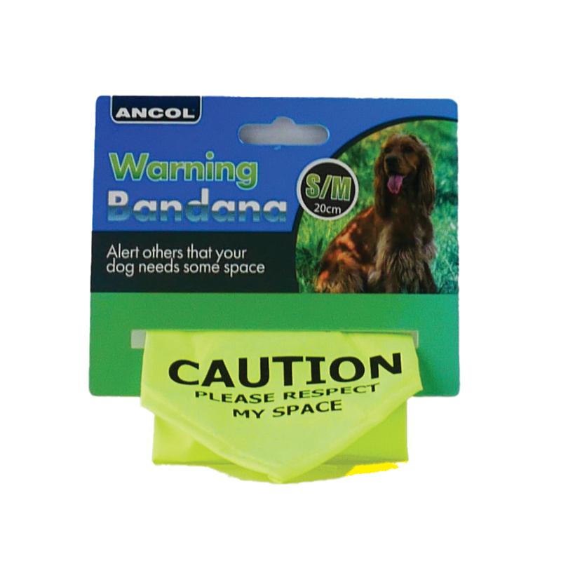 Ancol Warning Dog Bandana