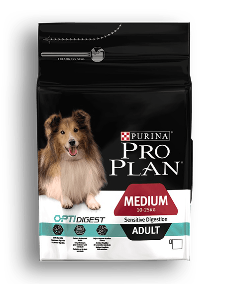 PURINA®PRO PLAN® DOG Medium Adult - Sensitive Digestion with OPTIDIGEST™ - 3Kg