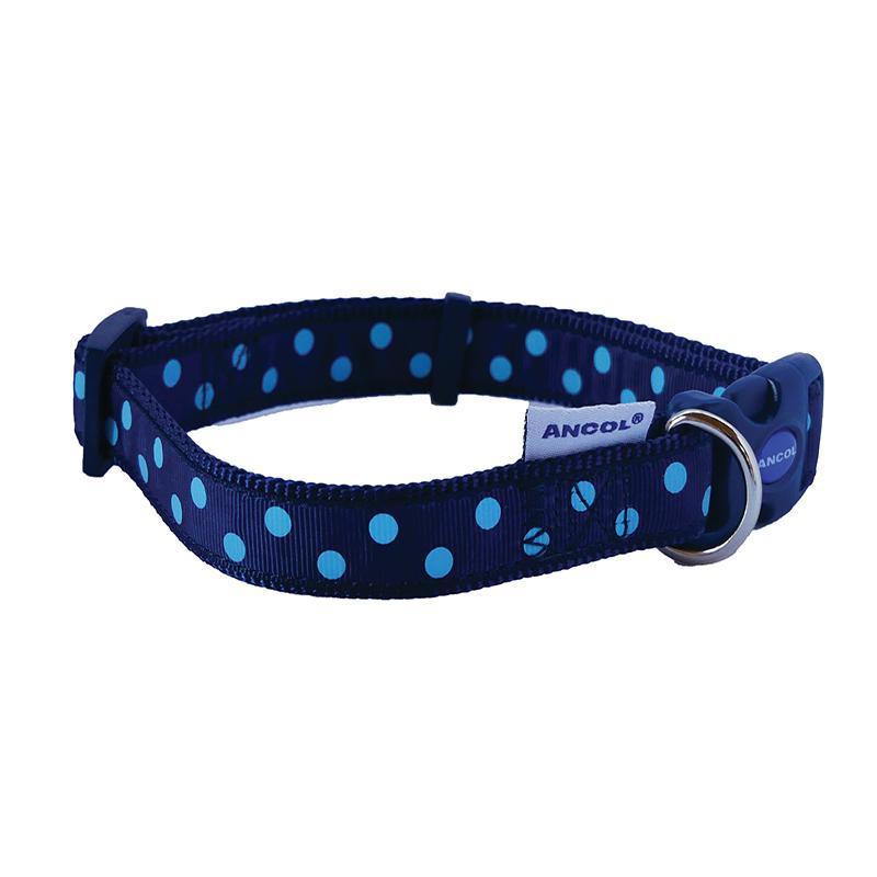 Ancol Dog Collar Blue Polka Dot