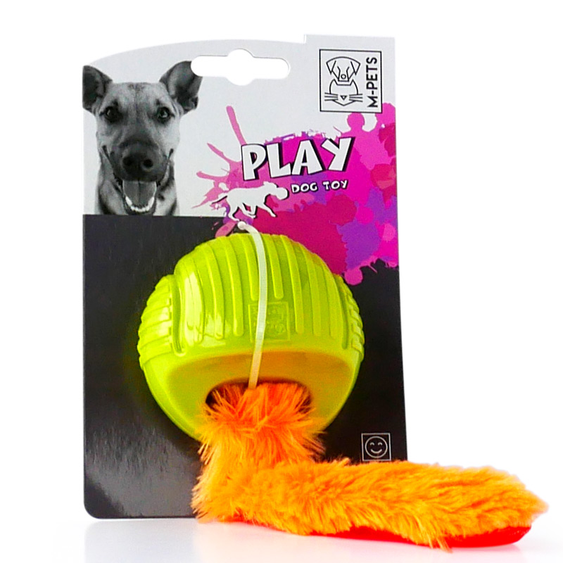 M-Pets Play Dog Squeaky Ball Toy