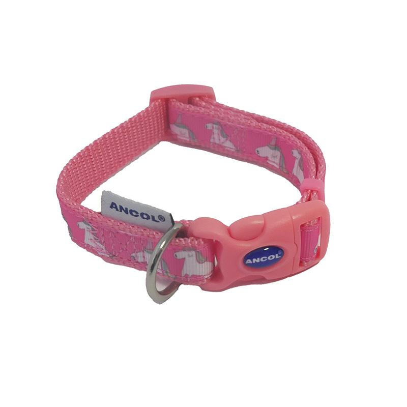 Ancol Dog Collar Pink Unicorn