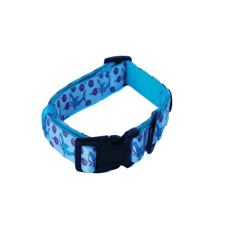 Dogfatherz Dog Collar Shark Design