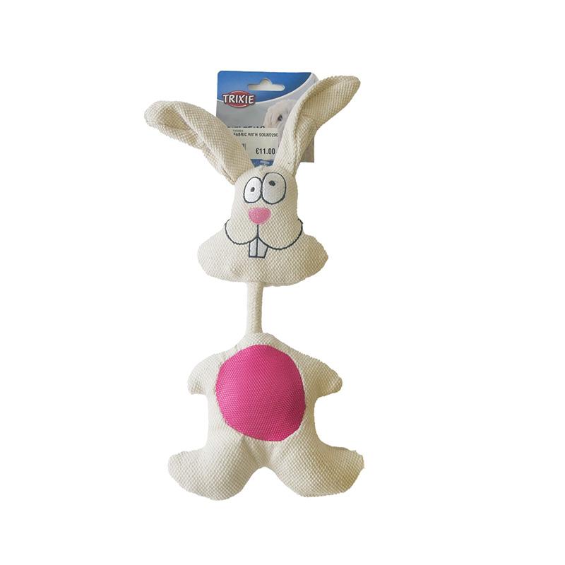 Trixie Woven Rabbit Squeaky Dog Toy